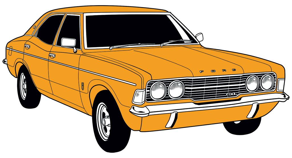 1972 Ford Cortina GXL (Color)